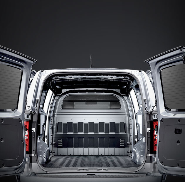 Twin swing opening rear doors